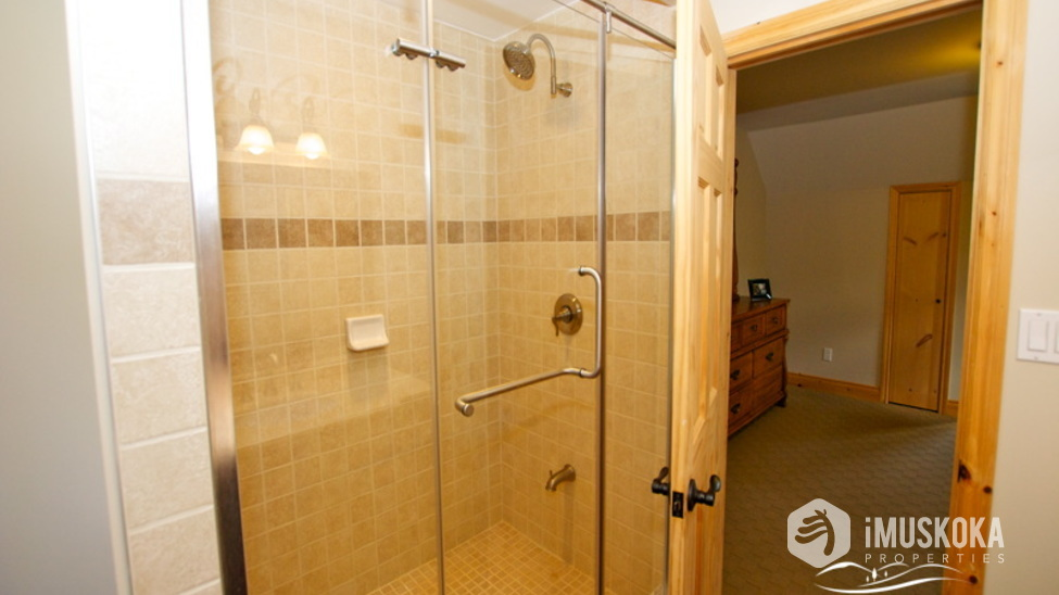 Glass Shower glass shower for upper 2 bedrooms to share