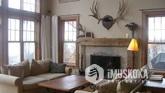 Beautiful fireplace and wood floors