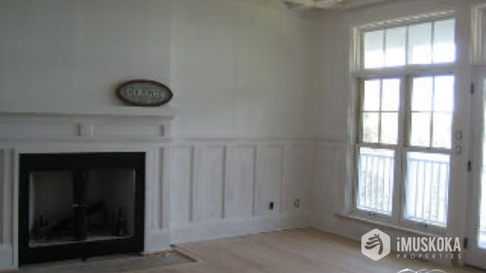 Outstanding Finish Detail Living room with old muskoka style detail work.