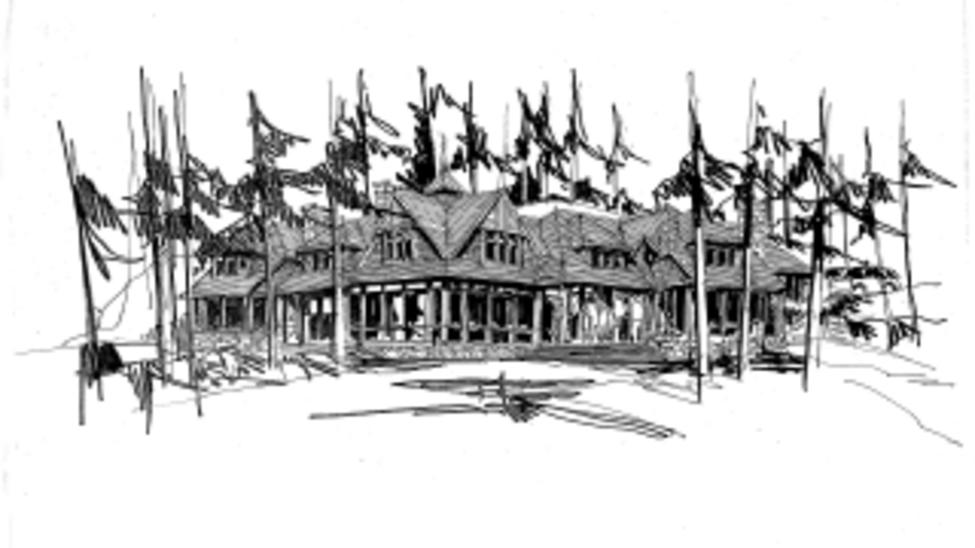 Gren Weiss Sketch Gren Weiss design of proposed building.